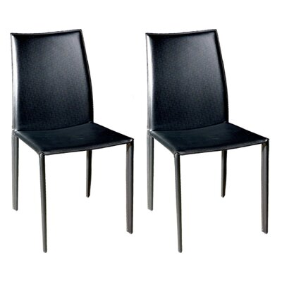 Miranda Upholstered Dining Chair Upholstery: Black