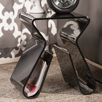 Miranda Acrylic Functional End Table