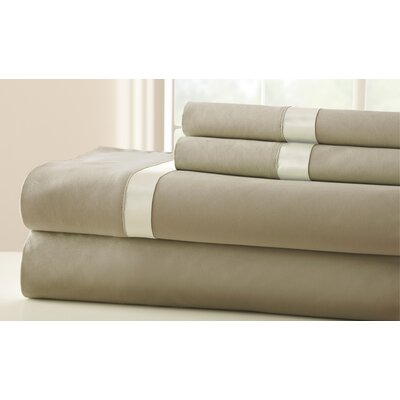 Coolidge 400 Thread Count Sheet Set Size: Queen, Color: Taupe / Pristine