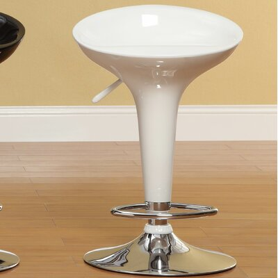 Agrippa Adjustable Height Swivel Bar Stool (Set of 2) Upholstery: White