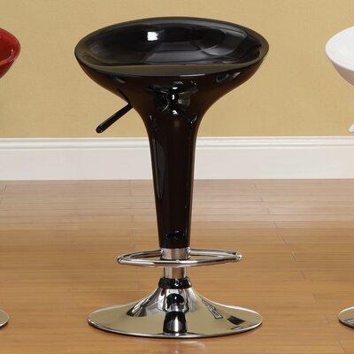 Agrippa Adjustable Height Swivel Bar Stool (Set of 2) Upholstery: Black