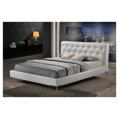 Miranda Upholstered Platform Bed Size: King