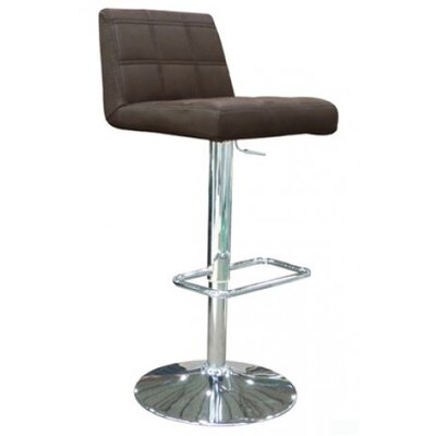 Astor Place Adjustable Height Swivel Bar Stool Upholstery: Chocolate