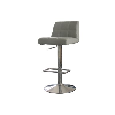 Astor Place Adjustable Height Swivel Bar Stool Upholstery: Grey