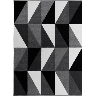 Mcanally Amazing Geometric Grey Area Rug Rug Size: Runner 18 x 7