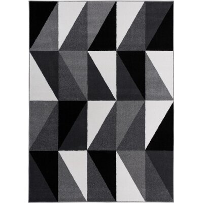 Mcanally Amazing Geometric Grey Area Rug Rug Size: 23 x 311