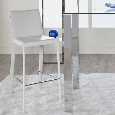 Arevalo 26 Bar Stool Upholstery: White