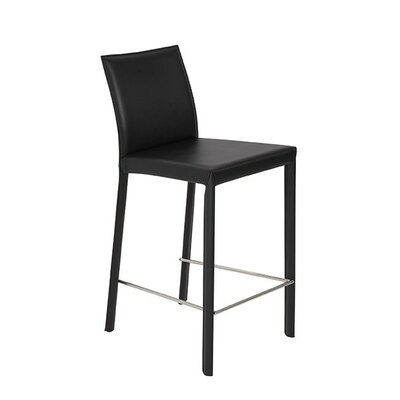 Arevalo 26 Bar Stool Upholstery: Black