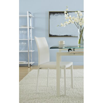 Arevalo Upholstered Side Chair Upholstery: White
