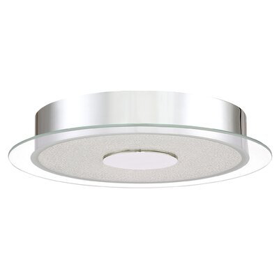 Coletta Glass Shade Flush Mount Finish: Polished Chrome