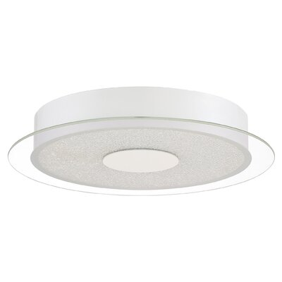 Coletta Glass Shade Flush Mount Finish: White Luster
