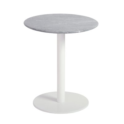 Balke Contemporary End Table Color: White