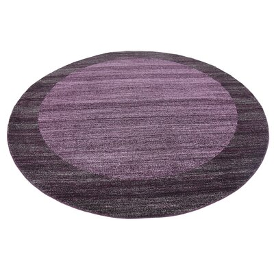 Beverly Purple Area Rug Rug Size: Round 8