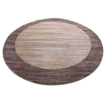 Britton Brown Area Rug Rug Size: Round 8