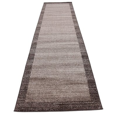 Britton Brown Area Rug Rug Size: Runner 27 x 10