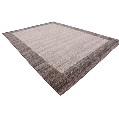 Napoli Brown Area Rug Rug Size: 10 x 13