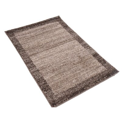 Christi Brown Area Rug Rug Size: Round 6