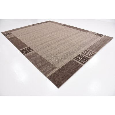 Britton Brown Area Rug Rug Size: 10 x 13