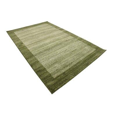 Britton Green Area Rug Rug Size: 5 x 8