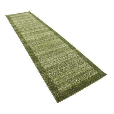 Britton Green Area Rug Rug Size: Runner 27 x 10