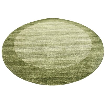 Napoli Green Area Rug Rug Size: Round 8