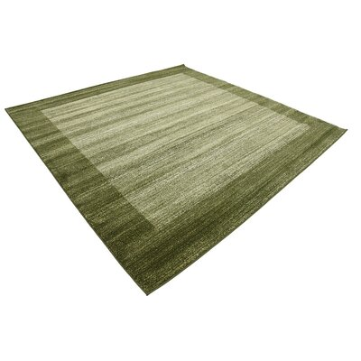 Napoli Green Area Rug Rug Size: Square 8