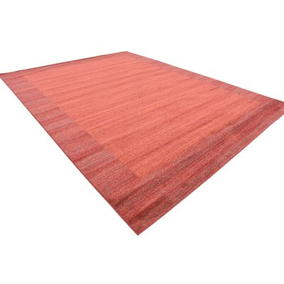 Gutzman Terracotta Area Rug Rug Size: Rectangle 10 x 13