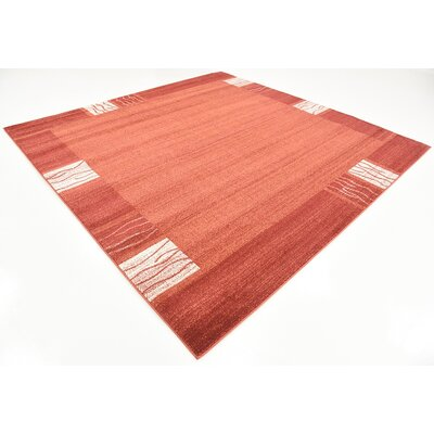 Britton Rust Red Area Rug Rug Size: Square 8