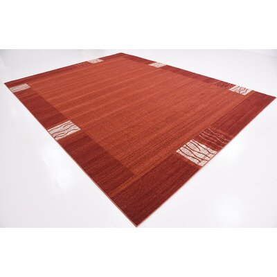 Britton Rust Red Area Rug Rug Size: 10 x 13
