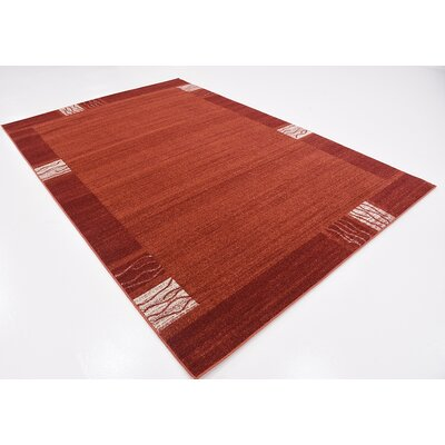 Britton Rust Red Area Rug Rug Size: 6 x 9