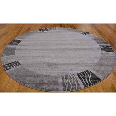Britton Gray Area Rug Rug Size: Round 8