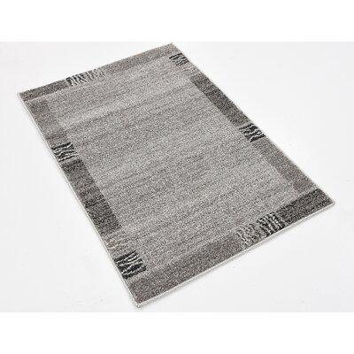 Britton Gray Area Rug Rug Size: 22 x 3