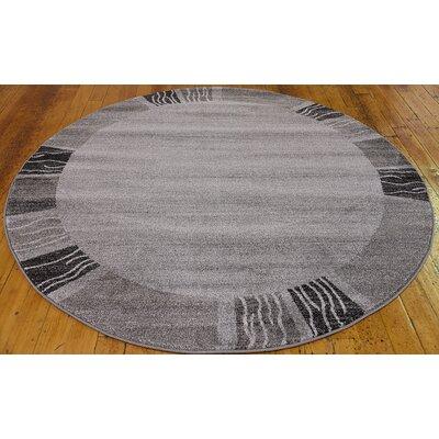 Britton Gray Area Rug Rug Size: Round 6