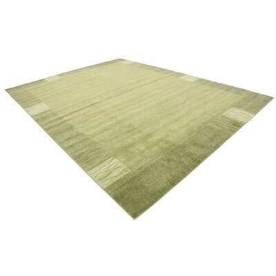 Britton Green Area Rug Rug Size: 10 x 13
