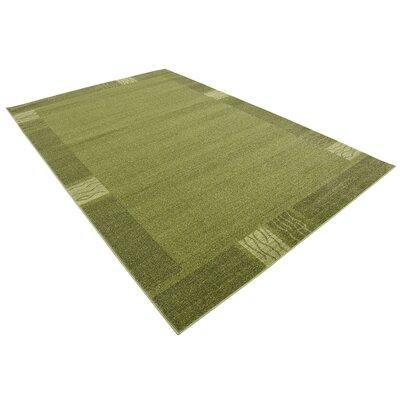 Christi Green Color Bordered Area Rug Rug Size: 6 x 9