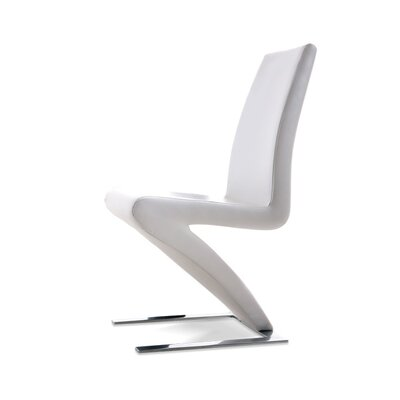 Camron Parsons Chair (Set of 2) Upholstery: White