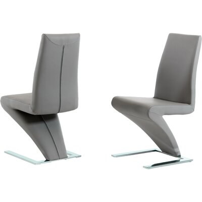 Camron Parsons Chair (Set of 2) Upholstery: Grey