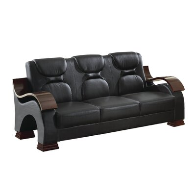 Caran Sofa Color: Black