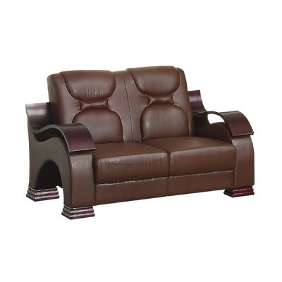 Caran Loveseat Upholstery: Brown