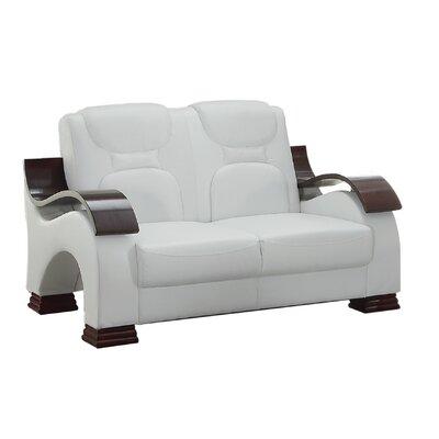Caran Loveseat Upholstery: White