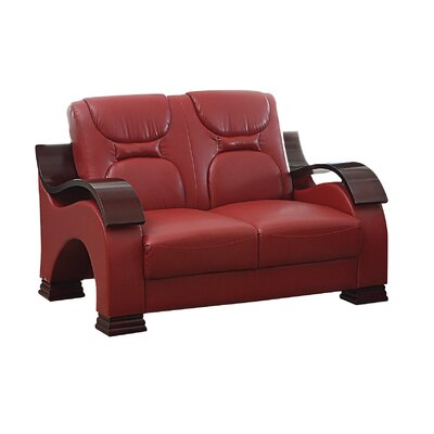 Caran Loveseat Upholstery: Red