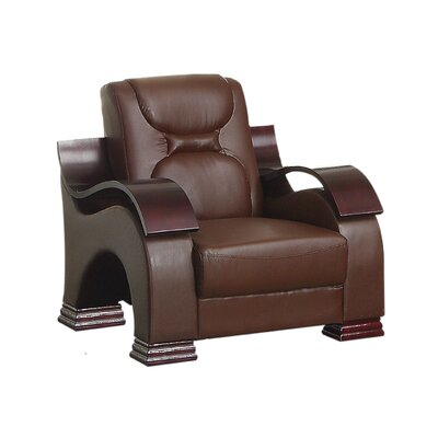 Caran Armchair Color: Brown