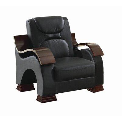 Caran Armchair Upholstery: Black