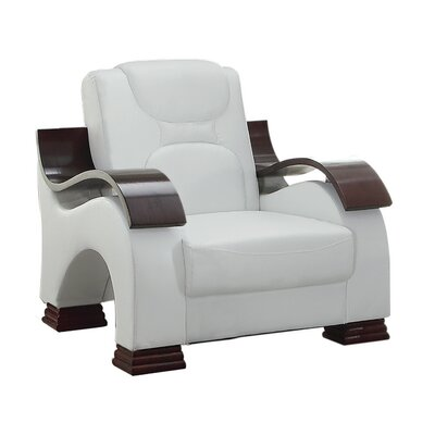 Caran Armchair Color: White