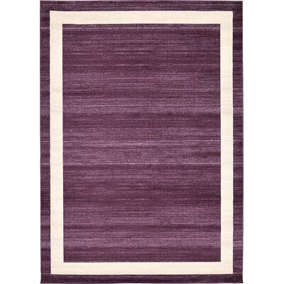 Christi Purple/Beige Area Rug Rug Size: Rectangle 113 x 8