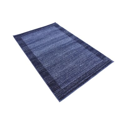 Christi Blue Area Rug Rug Size: Rectangle 3 x 5