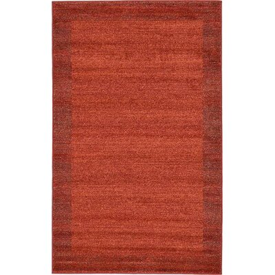 Christi Terracotta Area Rug Rug Size: 33 x 53