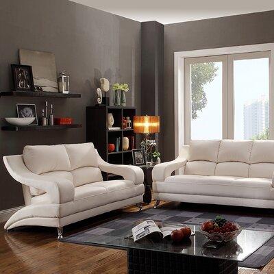 Terence Loveseat Upholstery: White