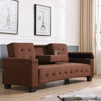 Derek Sleeper Sofa Upholstery: Suede - Chocolate