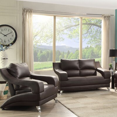 Terence Loveseat Upholstery: Cappuccino